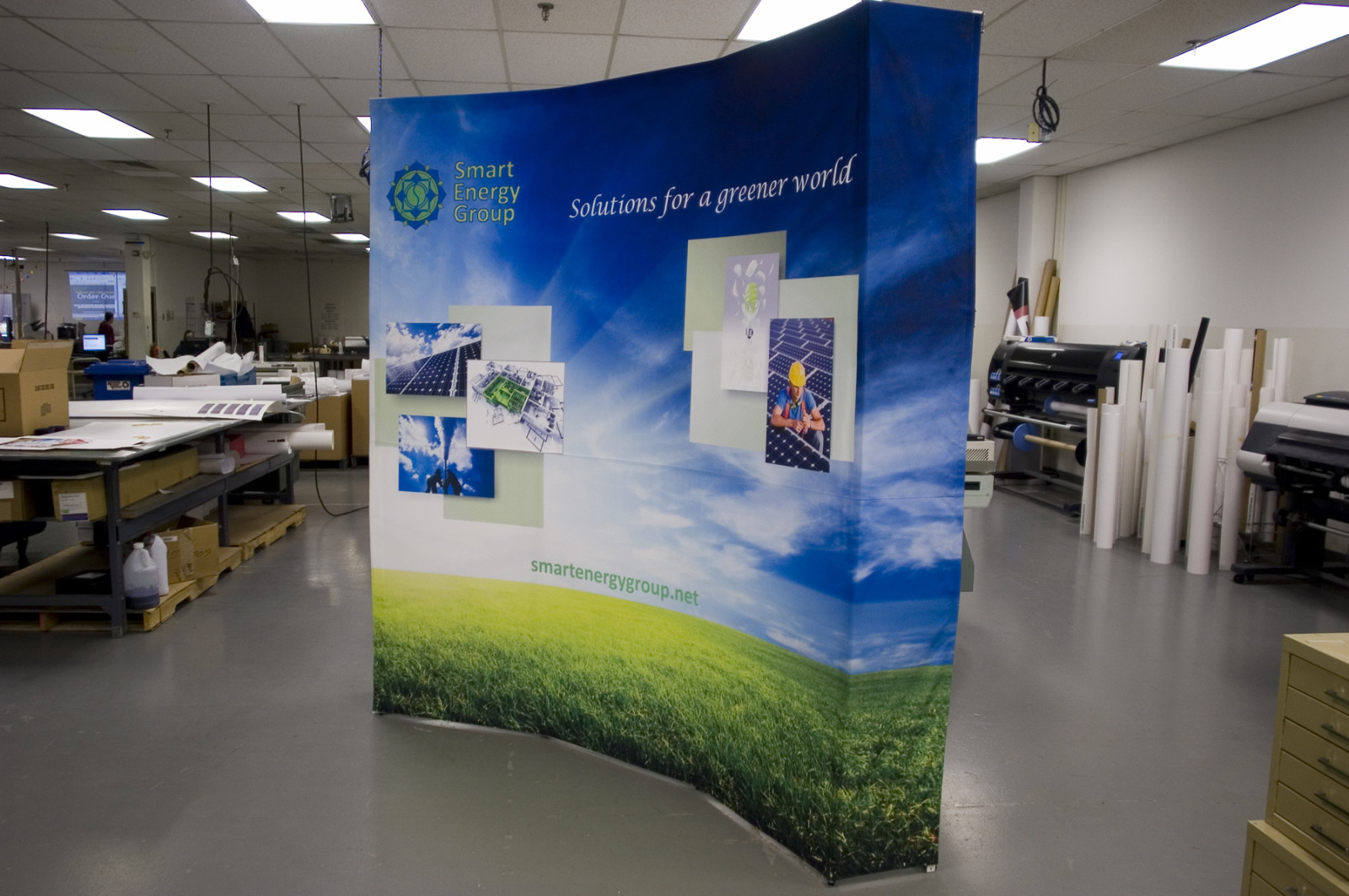Curved Trade show PopUp Display for Smart Energy Group
